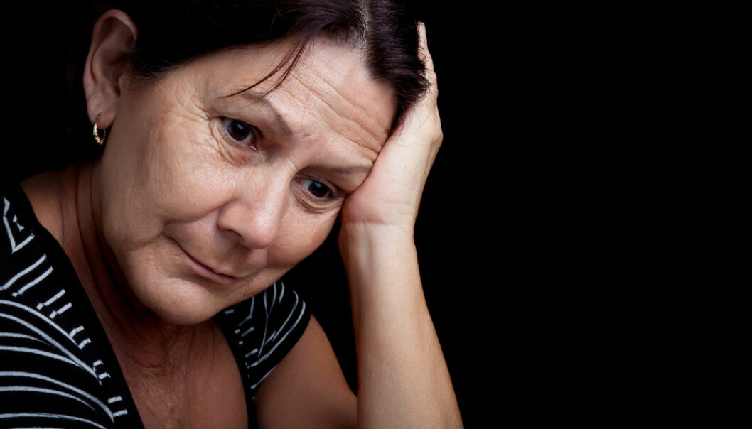 "If you take painkillers more than 10 times a month due to headaches you risk making your pain even worse. (Photo: <a href=""http://www.shutterstock.com/da/pic-98646464/stock-photo-portrait-of-a-very-sad-and-depressed-older-woman-suffering-from-stress-or-a-strong-headache.html?src=csl_recent_image-1&ws=11"" target=""_blank"">Shutterstock</a>)"