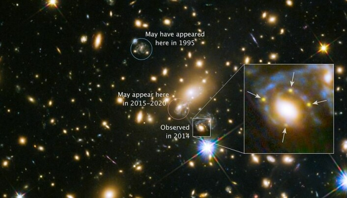Scientists observe exploding star through extremely rare cosmic phenomenon