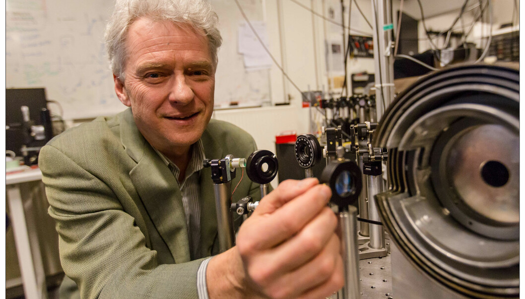 Professor Eugene Polzik led the experiments at the Niels Bohr Institute. (Photo: University of Copenhagen)