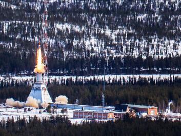 The rocket launches from Sweden. (Photo: Jesper Rais)