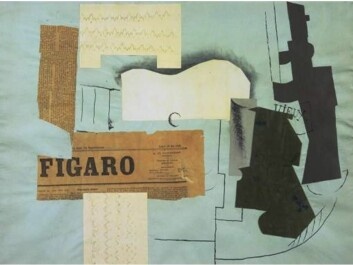 Collage arose at the start of the 1910s. One of the first artists to make use of collages was Pablo Picasso; other artists quickly followed suit, including the Dadaists, who cultivated the absurd and meaningless. In about 1920 some Dadaists were inspired by Sigmund Freud's psychoanalysis, and this was the start of surrealism. The artists took collage techniques with them to surrealism, where they wanted to use collages to make contact with 'the subconscious'. The strange clash between the elements in surrealistic collages often resembles those found in dreams. (Collage: Pablo Picasso: Bottle of Vieux Marc, Glass, Guitar and Newspaper (1913))