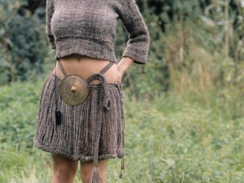 The Egtved Girl lived approximately 3,400 years ago in the Bronze Age. The picture depicts a reconstruction of the clothing found in her coffin. (Photo: Lejre)