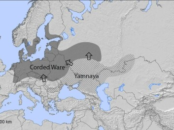 Yamnaya migration into Northern Europe. (Modified map, original by Richard Potter)