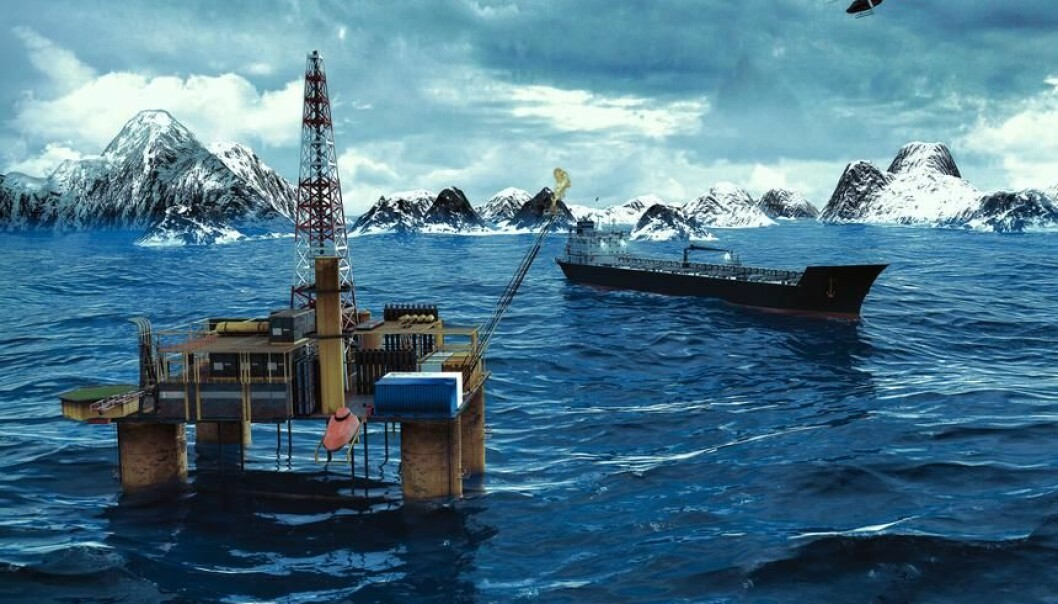 "Earth's oceans had been cooling for almost 2,000 years due to frequent volcanic eruptions. This all changed with the industrial revolution. (Photo: <a href=""http://www.shutterstock.com/da/pic-234374374/stock-photo-oil-platform-in-the-arctic-ocean.html"" target=""_blank"">Shutterstock</a>)"