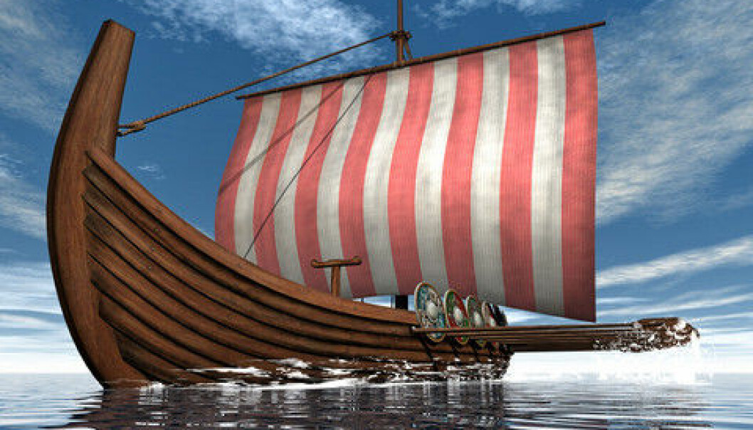 "Viking raids between 800 and 1000 CE funded the Danish crown in its infancy--expanding and consolidating its political power in the region. (Photo: <a href=""https://www.colourbox.com/image/drakkar-or-viking-ship-floating-on-the-ocean-3d-render-image-12291264"" target=""_blank"">Colourbox</a>)"