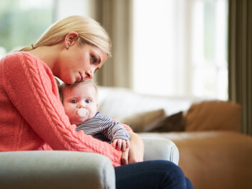 "Women are at greatest risk of developing depression immediately after giving birth. (Photo: <a href=""http://www.shutterstock.com/da/pic-173523602/stock-photo-mother-suffering-from-post-natal-depression.html"" target=""_blank"">Shutterstock</a>)"