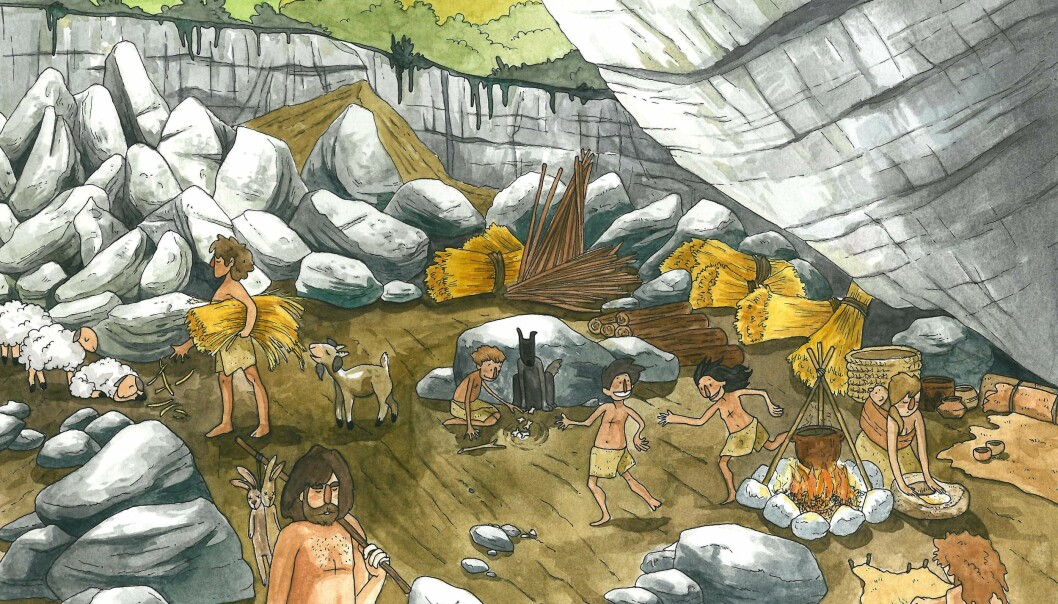 Farming came to Europe from the Near East. Now scientists confirm that these newcomers also made it to Spain, bringing farming knowledge, and marking the origin of the Basque people. (Illustration: María de la Fuente).