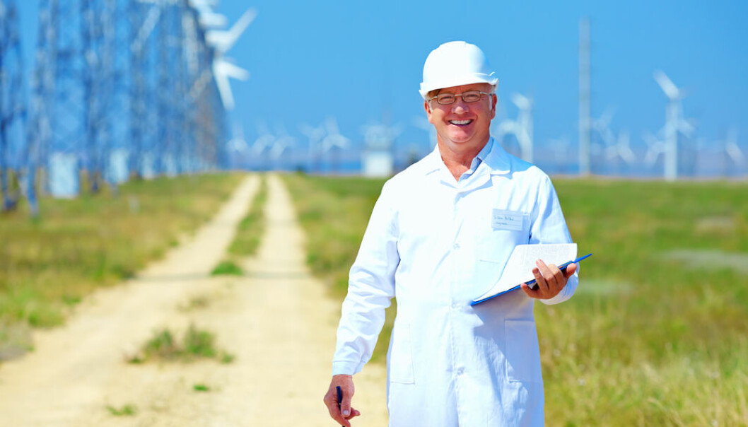 "Research shows that focusing on the co-benefits of tackling climate change, like creating new jobs in green industries, can motivate people to act. (Photo: <a href=http://www.shutterstock.com/da/pic-151957439/stock-photo-researcher-analyzes-readouts-on-wind-power-station.html target=""blank_"">Shutterstock</a>)"
