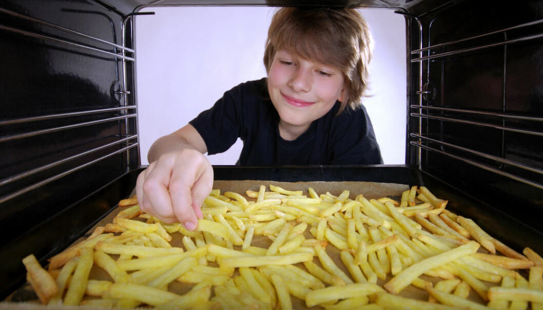 "Trans fats are found in industrially produced foods such as waffles and cooking oil. There is mounting evidence that consumption of trans fat is associated with increased incidences of heart disease. (Photo: <a href=http://www.shutterstock.com/da/pic-96940130/stock-photo-boy-at-the-oven-baking-french-fries.html target=""blank_"">Shutterstock</a>)"