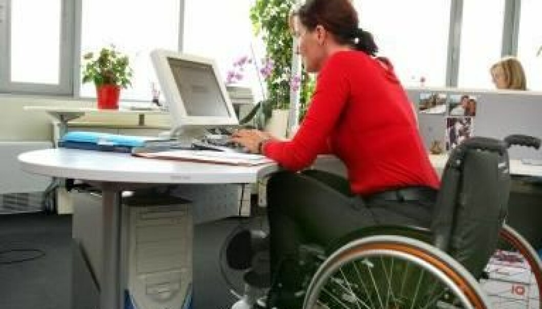 The Danish flexicurity model prevents disabled people from getting a job. In neighbouring Sweden, twice as many disabled people are in work. (Photo: Colourbox)