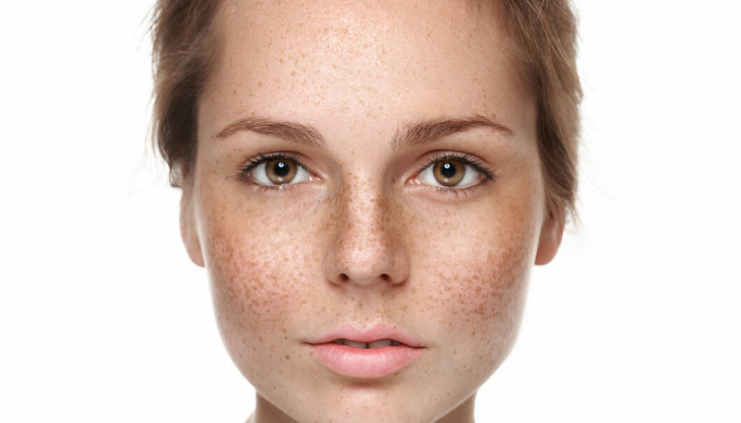 "Our facial mites can tell us a lot about who we are and where we come from. (Photo: <a href=http://www.shutterstock.com/da/pic-289941458/stock-photo-young-beautiful-freckles-woman-face-portrait-with-healthy-skin.html target=""blank_"">Shutterstock</a>)"
