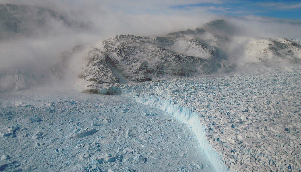 "The Greenland ice sheet moves slower than it once did due to the formation of 'hard' ice 11,000 years ago. But can this hard ice protect it from rapid melt associated with climate change? (Photo: <a href=https://www.flickr.com/photos/gsfc/5610376951  target=""blank_"">Flickr NASA Goddard Space Flight Center</a>)"