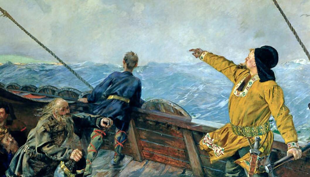 "Leif Erikson discovers America. (Photo: <a href=""https://en.wikipedia.org/wiki/Vinland#/media/File:Christian-krohg-leiv-eriksson.jpg"">Christian Krogh/Wikimedia Commons</a>)"