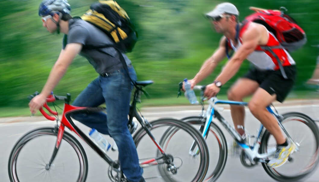 It was previously thought that the kidneys were to blame for the muscles becoming acidotic during vigorous exercise like sprinting on a bicycle. But this has now been shown to be incorrect. (Photo: Colourbox)