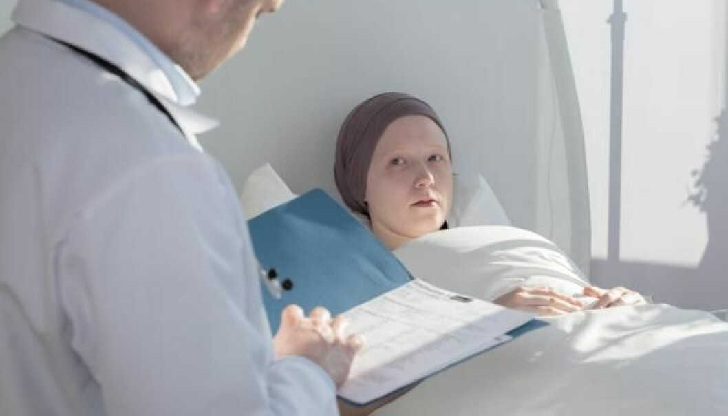 """Children in a single parent family or with one or more siblings may be less likely to survive cancer. (Photo: <a href=http://www.shutterstock.com/pic-342469610/stock-photo-caring-doctor-analyzing-medical-results-of-patient-with-cancer.html target=""""_blank"""">Shutterstock</a>)"""