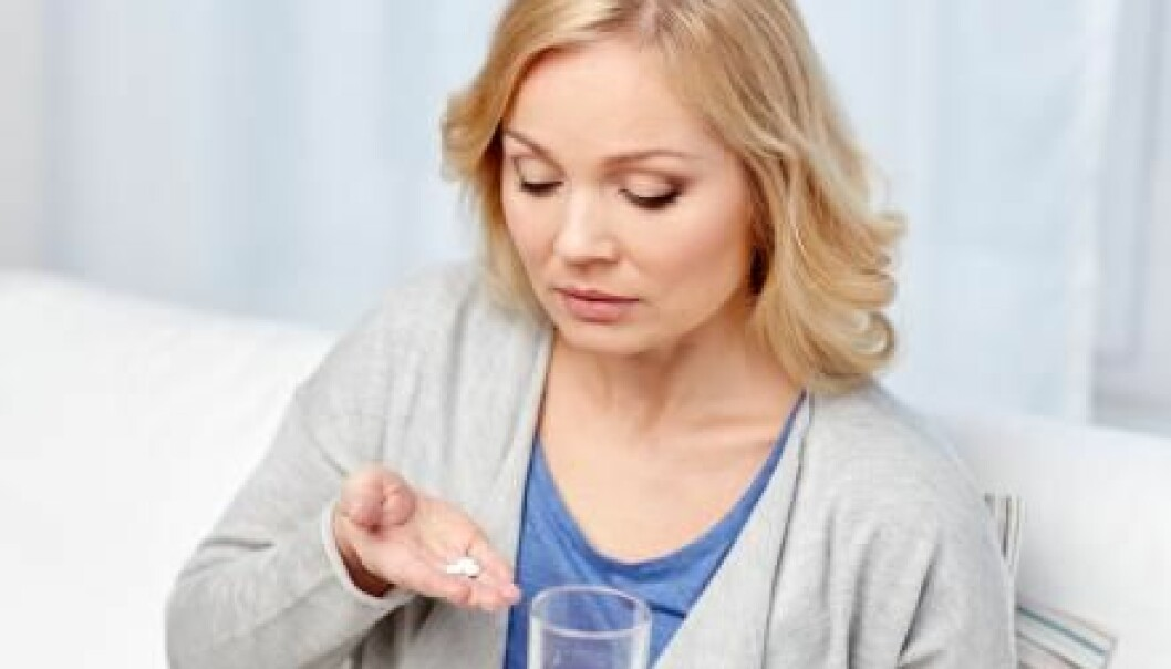 "Many women take statins to lower their cholesterol but there is no evidence that it works. (Photo: <a href=http://www.shutterstock.com/pic-366021608/stock-photo-woman-with-medicine-and-water-glass-at-home.html target=""_blank"">Shutterstock</a>)"