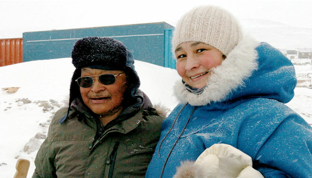 ScienceNordic caught up with Lene Kielsen Holm from the Greenland Institute of Natural Resources, to find out what it is like to be a scientist in Greenland. Here she is with Qaerngaaq Nielsen, a hunter from Savissivik, northwest Greenland (Photo: Lene Kielsen Holm)