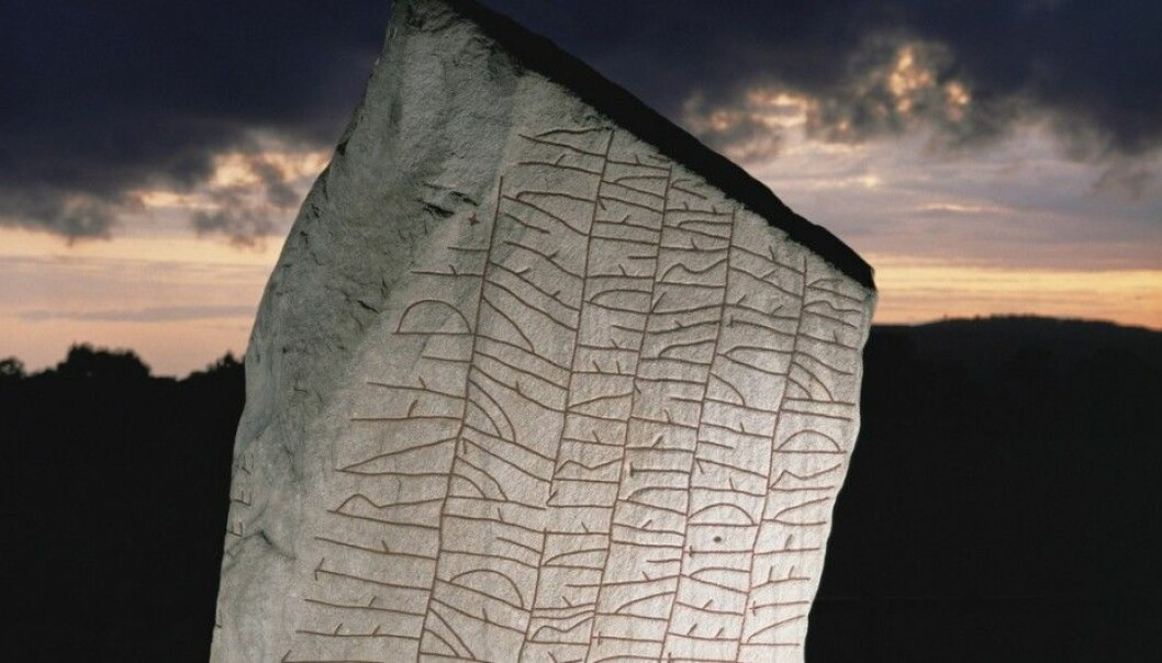 The top of the Rök runestone. The inscription begins on this side. (Photo: Science Photo Library)