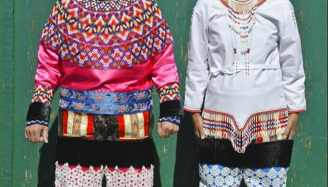Women in national dress from West Greenland (left) and East Greenland (right). Inuit in Greenland form a majority of the country's population in a land with self-government. But they still fight against the same problems as other previously-colonised indigenous peoples. (Photo: Shutterstock)
