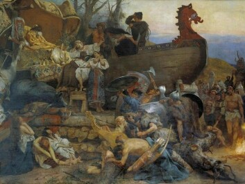 The Polish painter Henryk Siemiradzki painted the burial ritual of eastward voyaging Vikings according to the description by Ibn Fadlān. (Photo: Wikimedia Creative Commons)