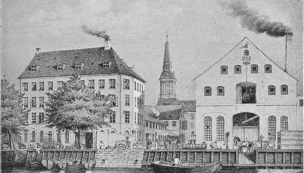Copenhagen industry in the mid 1800s. A new study finds that even small increases in atmospheric carbon dioxide in the early days of industrialisation had a measurable impact on Earth's climate (Photo: Wikipedia)