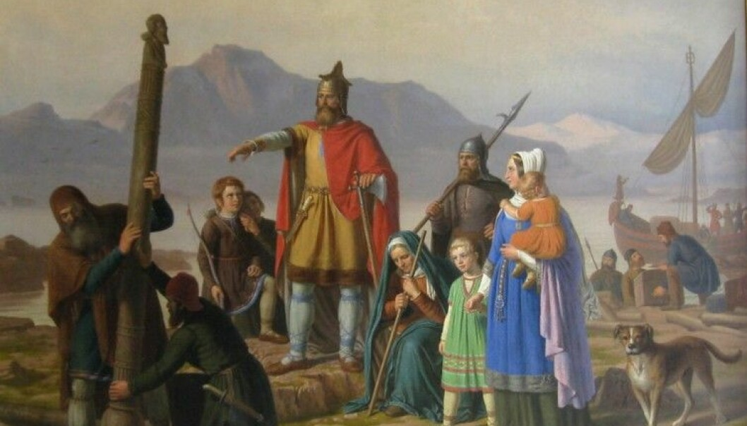 Ingólfur Arnarson is considered the first permanent Nordic settler of Iceland. By Johan Peter Raadsig (1806 - 1882) [Public domain or Public domain], via Wikimedia Commons