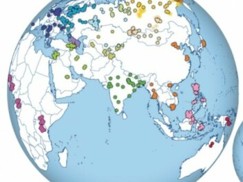 The map shows where the 370 genomes came from that Metspalu and colleagues have analysed for their new study. (Illustration: Pagani et al. 2016)