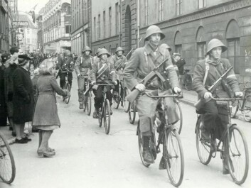 The Danish resistance celebrated liberation, on their bicycles. This photo was taken a day after liberation on May 6, 1945. (Photo: National Museum)