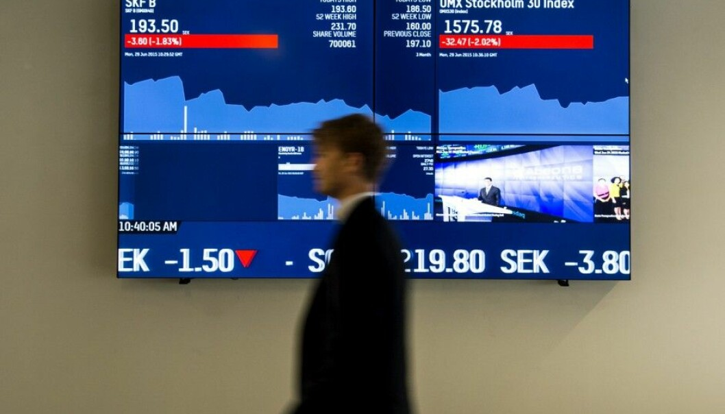 Swedish investment managers made no more and no less on the stock market than the average Joe, or Johan. (Photo: Pontus Lundahl / NTB scanpix)