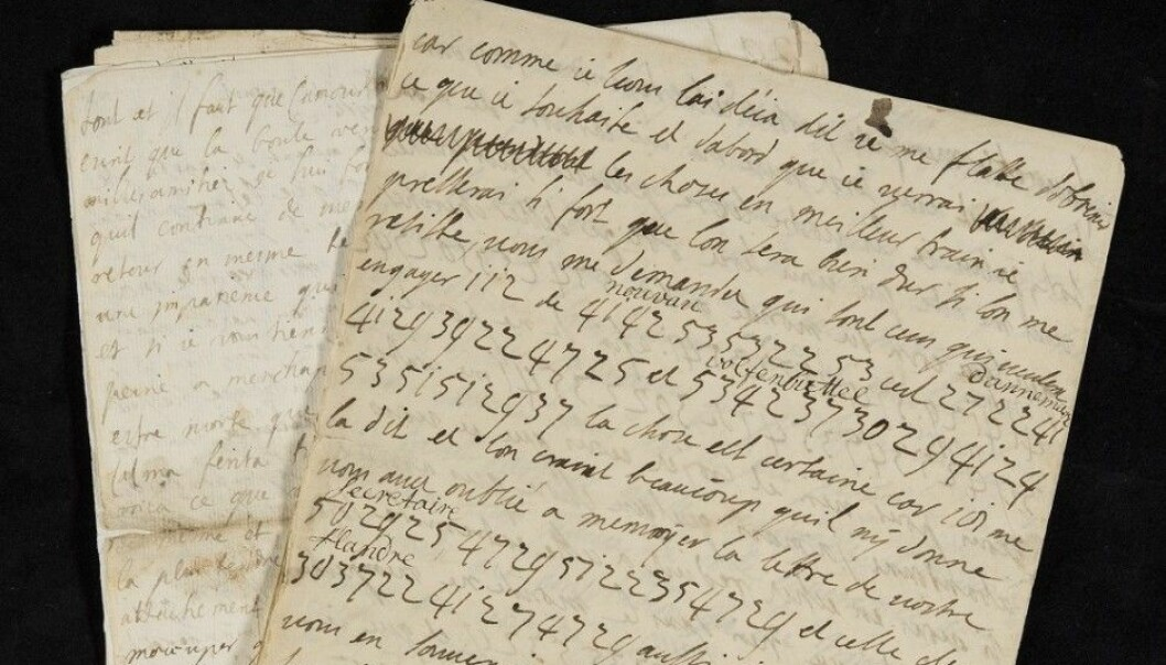 Upwards of 300 love letters are preserved, correspondences between the Swedish Count Philip Christoph Königsmarck and the German Sophia Dorothea, who unfortunately was already married. The romantic parts are partly written in code but from a modern viewpoint they were fairly tame. That said, they testify to what contemporarily was a scandalous relationship. The count disappeared without a trace in a palace where a skeleton has now been found (Photo: Lund University)