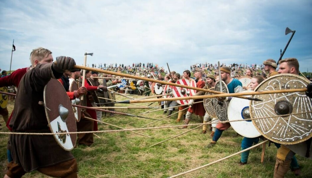 New experiments have broadened archaeologists' views on Viking battle technique (Photo: Johan Nyborg Andreassen)