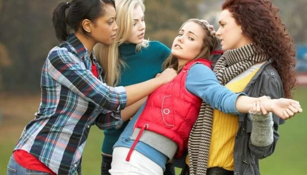 The media misses the mark when they talk of violent rampages by 'girl gangs'. Most episodes of violence are of short duration and involve very few girls. The threat or use of violence is their way of showing that they refuse to be trodden on. (Photo: Colourbox)