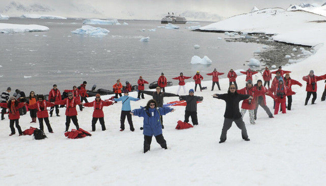 China's southern presence is much stronger. Here, participants break the world record for shadow boxing in Antarctica. (Photo: China Daily China Daily Information Corp/Reuters)