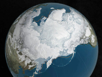 Arctic sea ice is at a record low. (Illustration: NASA/Reuters)