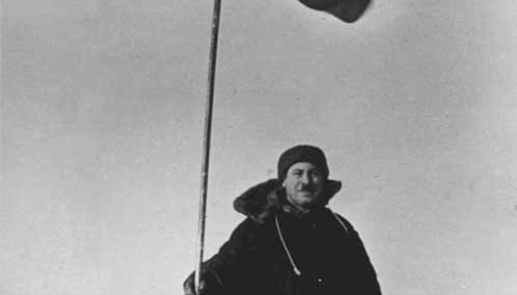 USSR Commander Ivan Papanin at North Pole-1 drifting ice station, 20 kilometres from the North Pole, May 1937. (Photo: Wikipedia)