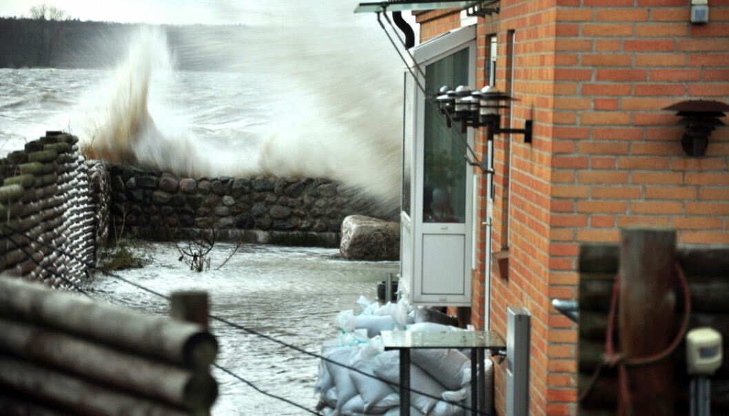 Storm Bodil hit Denmark in 2013. Events like this and the one that hit Copenhagen in January 2017 could become more common as sea level rises. (Photo: Martin Stendel / DMI)