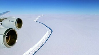 When will the large crack on this Antarctic ice shelf break away?