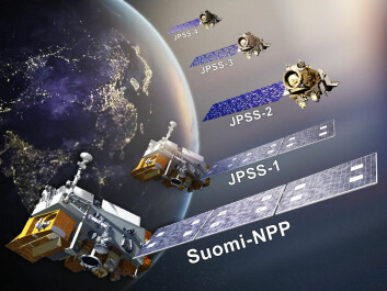 NOAA currently operates three polar orbiting satellites: Suomi-Npp, JPSS-1, and JPSS-2. These satellites provide data for weather prediction models in the US. Funding cuts are proposed to two future satellites (JPSS-3 and -4), which were intended to launch in the mid-2020s and could results in a void in data for weather and climate agencies in the US and abroad. (Illustration: JPSS project / NOAA).