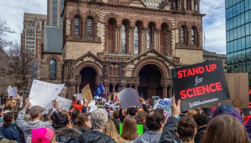 Boston, USA in 2017. Already in February there were protests against the newly elected President Donald Trump for his statements on science during the campaign. (Photo: Shutterstock)