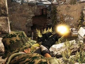 "In the USA, American researchers have developed a computer game ""America's Army"" to recruit soldiers. It is a type of game that Anders Engberg-Pedersen, thinks distorts the picture of war as being something that is fun and easy. (Photo: America's Army.com)"