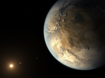 Artist's impression of Kepler-186f, the first validated Earth-size planet to orbit a distant star in the habitable zone. There are around 1 billion Earth-like planets in the Milky Way that could be home to intelligent life. (Illustration: NASA Ames/SETI Institute/JPL-Caltech)
