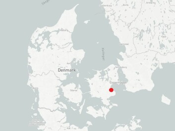 Location of Strøby on Zealand, East Denmark shown by the red dot. (Map: ScienceNordic / MapBox)