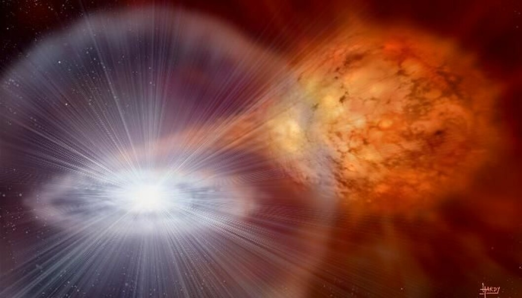 Scientists at DTU Space have helped develop the NICER instrument that will investigate some of the mysteries surrounding neutron stars. (Photo: NASA)