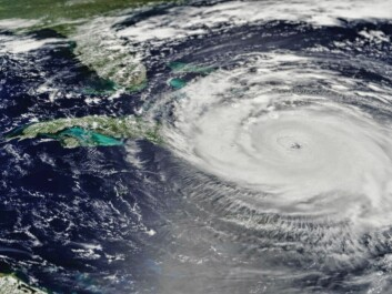 By September 2017, two major hurricanes, including Irma pictured, had swept through the Caribbean and the coast of southeast US. Climate change is suspected to have already made the impacts of hurricanes more extreme, due to more rain and larger storm surges, and this may continue in the future. (Photo: Shutterstock).