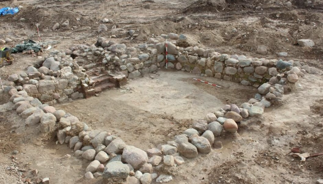 Excavation of an extremely well-preserved cellar, which may have functioned as a place to store the town's taxes. (Photo: Mette Olsen)