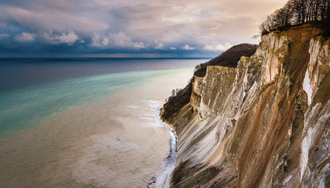 Mons Klint Cliffs in Denmark, where sea level rise has so far been influenced more by ice loss in Antarctica than Greenland. (Photo: Thomas D Mørkeberg / Flickr)