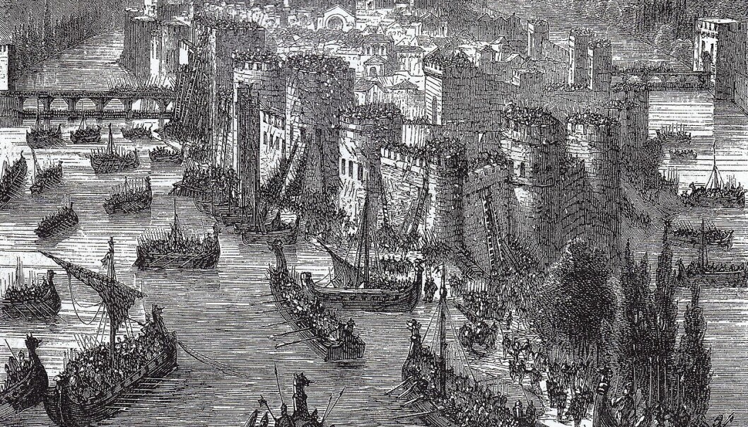 Few peoples are as famous for their raiding and terror as the Vikings. Their success in war owes to a number of reasons. Here, a 19th century artist's impression of a Viking siege of Paris. (Illustration: Wikimedia)