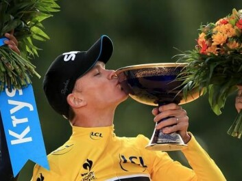 British cyclist Chris Froome celebrates winning the Tour de France in 2015. (Photo: PA, CC BY-SA)