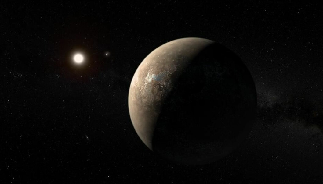Proxima Centauri b is a bit smaller than Earth and orbits a red dwarf star, Proxima Centauri, which itself orbits a double star, Alpha Centauri. Any inhabitants on the planet will therefore see three suns in the sky.