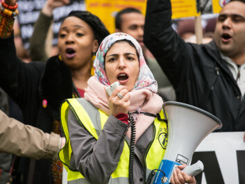 Protesters march against racism in London, 2017. Super-diverse communities cannot simply categorise strangers into one of two camps—their own or the 'other,' and as a result often have better relations across ethnic and cultural lines. (Photo: Shutterstock)